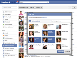 Segment Facebook Friends With Lists