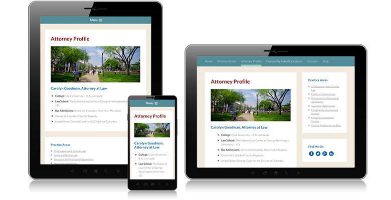Goodlaw Responsive WordPress Website Design